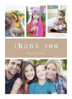 Tell your friends & family #thankyou! Customizable with your own text & images! CatPrint Design #475