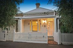 White on white Victorian cottage 78 Reed Street  ALBERT PARK  @ domain.com.au