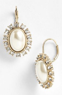 Anne Klein Socialite Oval Drop Earrings available at #Nordstrom