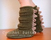 Crochet pattern- toddler cozies- cozy boots for boys and girls- toddler sizes 5-10. $5.00, via Etsy.