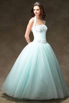 Pretty Sleeveless Floor length Applique Strapless Ball Gown Tulle Zipper Up Classic Traditional Quinceanera Dress Homecoming Dress Prom Dress Evening Dress affordable on sale delicate made