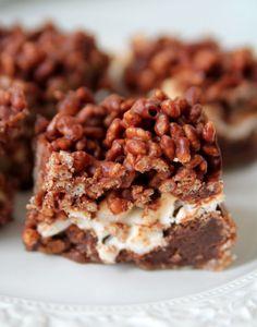 Brownies med crisptopping   Jennys Matblogg