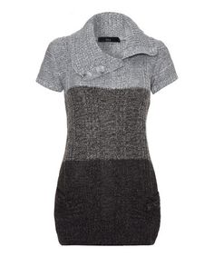 This Gray & Black Color Block Sweater Dress by Iska London is perfect! #zulilyfinds