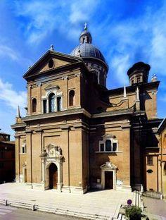 Reggio Emilia - Facciata del Santuario della Ghiara Reggio Emilia, Notre Dame, Taj Mahal, Mansions, House Styles, Building, Travel, Home, Fotografia