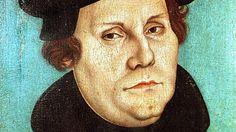 Porträt des Reformators Martin Luther, Ölgemälde auf Holz von Lukas Cranach d.Ae., 1528. Das Bild hängt in der Lutherhalle in Wittenberg, dem grössten reformationsgeschichtlichen Museum der Welt. (picture-alliance / dpa / Norbert Neetz)