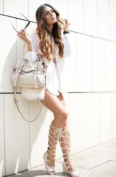 gladiator sandals with casual chic outfit