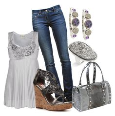 """""""Silver"""" by jliz516 ❤ liked on Polyvore featuring Marcia Moran, Étoile Isabel Marant, Daytrip, Two Lips and Hammitt"""