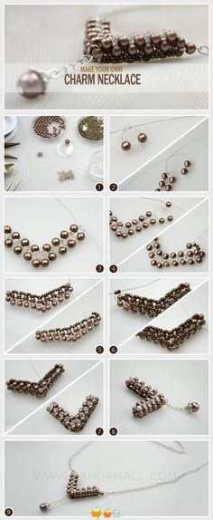 DIY Tutorial DIY Jewelry / Make Your Own Charm Necklace - Bead&Cord