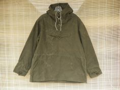 Vintage 1970's Military Green Canvas Anorak vintage anorak ...