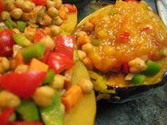 Vegan Chutney-Glazed Stuffed Acorn Squash from @GFDoctor
