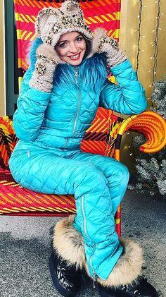 Ski Outfits, Womens Ski, Down Suit, Winter Suit, Moon Boots, Fur Boots, Rain Wear, Furs, Shiva
