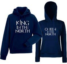 Komplet dukserice za parove tamno plave King of The North King In The North, Hoodies, Game, Fashion, Moda, Sweatshirts, Fashion Styles, Parka, Gaming