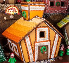9 – Chocolate-Dipped Orange Creamsicle Gingerbread House