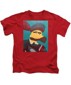 Patrick Francis Designer Kids Red T-Shirt featuring the painting The Emperor Charles V - After Peter Paul Rubens by Patrick Francis