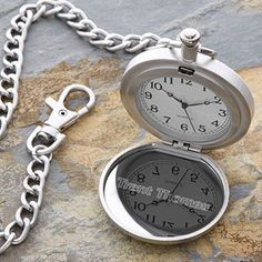 Personalized Corporate Engraved Logo Pocket Watch - 10024