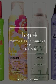 BEST texturizing sprays to get volume with fine hair!
