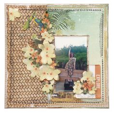 September Crop kit layout for Merly Impressions using Kaisercraft Paradiso Collection. Scrapbook Journal, Scrapbook Page Layouts, Travel Scrapbook, Scrapbook Pages, Scrapbooking Ideas, Smash Book Pages, Wedding Scrapbook, September 2014, Layout Inspiration