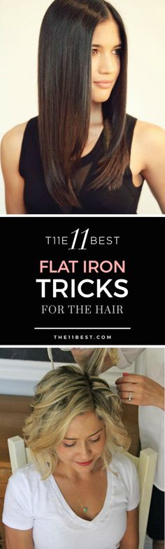 The 11 Best Flat Iron Tricks for the Hair