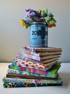 Cuadernos forrados de tela, preciosos todos!