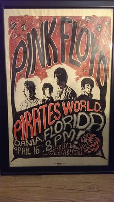 Pink Floyd Original Concert Poster with Syd Barrett