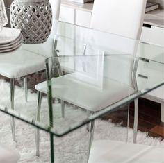 los mejores consejos para decorar espacios pequenos mesa comedor-vidrio Living Comedor, Chair, House, Furniture, Blog, Home Decor, Ideas, Dining Table Decorations, Decorating Dining Rooms