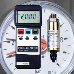 Druckmessgerät Tester Prüfer Manometer Drucksensor Kompressoren Pumpanlagen Tanks Silos DM1
