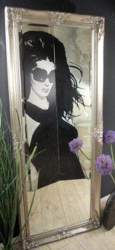 Wandspiegel Spiegel barock antik Silber 150 x 60 cm Facettenschliff von Sopo Tomas Ulbrich, http://www.amazon.de/dp/B007VQKY6Q/ref=cm_sw_r_pi_dp_XF5-rb0XS7BF1