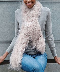 Another great find on #zulily! Mauve Faux Fur Scarf #zulilyfinds