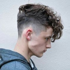 Mens hairut hairstyle fade Curls