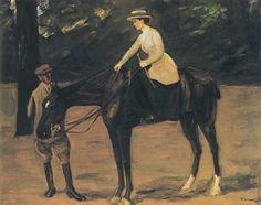 Liebermann, Max: Des Künstlers Tochter zu Pferde, 1913.