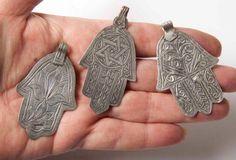 antique moroccan hamsa jewelry