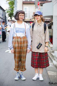 Moe and Arai on the street in Harajuku wearing... | Tokyo Fashion