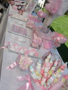 Treats at a Princess Party #princess #partytreats Tea Party Birthday, I Party, First Birthday Parties, Birthday Ideas, Marshmallow Skewers, Marshmallow Treats, Ballerina Party, Childrens Party, Princess Theme Party