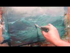 Seascape oil painting. Ocean. Part 1. - YouTube