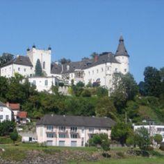 Castle on river Danube near Linz, Austria