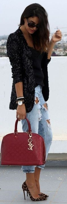 #spring #fashion #outfitideas |So Kate Leopard Pony Casual Look