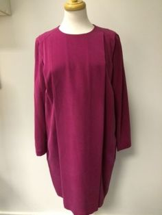 Sportmax BNWT pink silk dress 3/4 sleeves UK12 | eBay