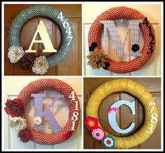 Marci Coombs: Personalized Monogram Wreaths.