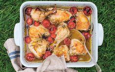 Kylling i form med tomater og estragon Health And Beauty, Cauliflower, Meal Planning, Cravings, Lunch, Meals, Chicken, Dinner, Vegetables