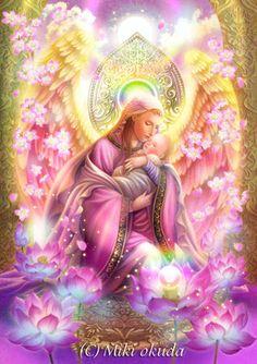 Angel of innocence Beautiful Fantasy Art, Beautiful Fairies, Okuda, Angel Drawing, I Believe In Angels, Divine Mother, Mother Teresa, Art Corner, Angels Among Us