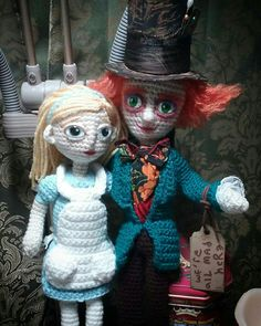 Alice and the Mad Hatter Amigurumi Crochet Commission