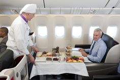 Chef service onboard Turkish Airlines Business Class