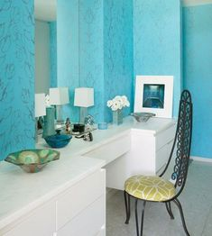 Dressing table bedroom decorating ideas wall color