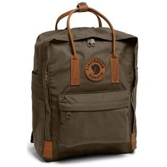 Women's Fjallraven 'Kanken No. 2' Backpack (£100) ❤ liked on Polyvore featuring bags, backpacks and dark olive