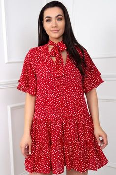 Pretty Summer Dresses, Summer Dresses For Women, Cute Dresses, Cute Wedding Dress, Fitted Bodice, Virgo, Cool Outfits, Polka Dots, Short Sleeve Dresses