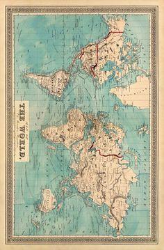 World map wallpaper Kittens persian cat Posters Vintage, Vintage Maps, Vintage World Map Poster, Antique Maps, World Map Wallpaper, Travel Wallpaper, World Map Printable, Wall Maps, Room Posters