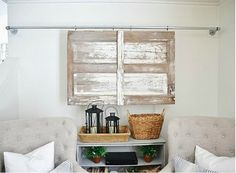 Hidden storage ideas // flat screen TV camouflage // living room styling & organizing // creative artwork // barn door DIY
