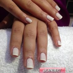 All white french manicure