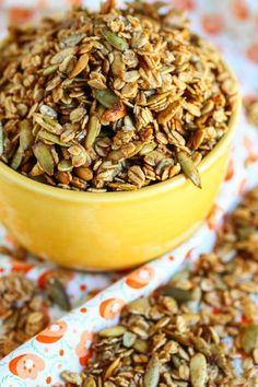 Homemade Pumpkin Crunch Granola - I wonder if this is like the granola Starbucks sells with its greek yogurt/honey.....yum!!