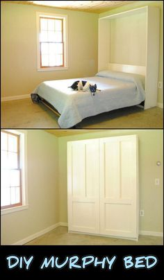 This DIY Murphy Bed